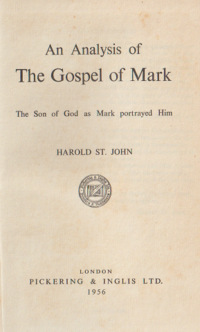 An Analysis of The Gospel of Mark