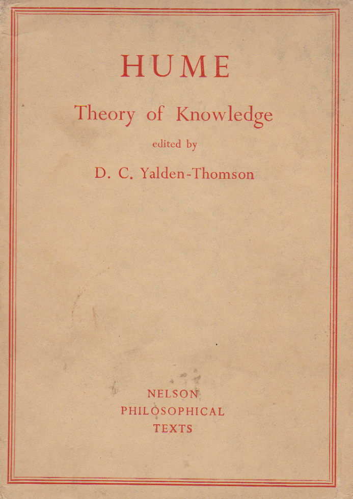 HUME  Theory of Knowledge