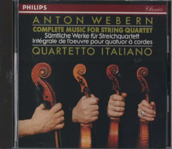 CD ANTON WEBERN COMPLETE MUSIC FOR STRING QUARTET QUARTETTO ITALIANO