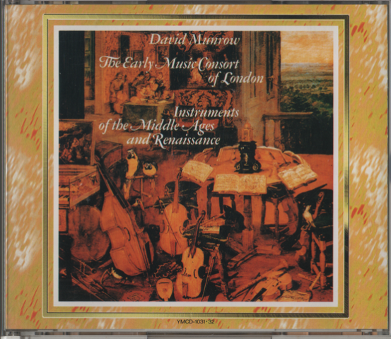 CD DAVID MUNROW  The Early Music Consort of London Instruments of the Middle Ages and Runaissance