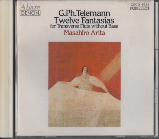 CD G.Ph.Telemann Twelve Fantasias for Transverse Flute without Bass